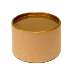 Tubo Lata em Papelão 7x10cm Tampa Plástica Dourada