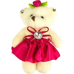 Ursinho de Pelúcia com Vestido Pink PEL027