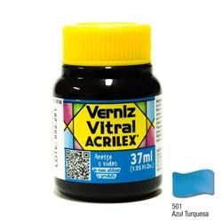 Verniz Vitral Acrilex 37mL - 501 Azul Turquesa