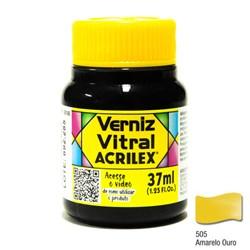 Verniz Vitral Acrilex 37mL - 505 Amarelo Ouro