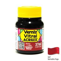 Verniz Vitral Acrilex 37mL - 507 Vermelho Fogo