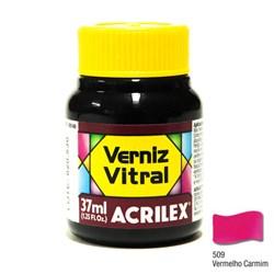 Verniz Vitral Acrilex 37mL - 509 Vermelho Carmim