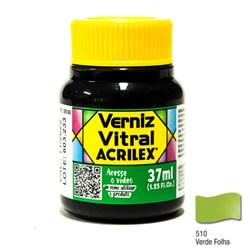 Verniz Vitral Acrilex 37mL - 510 Verde Folha