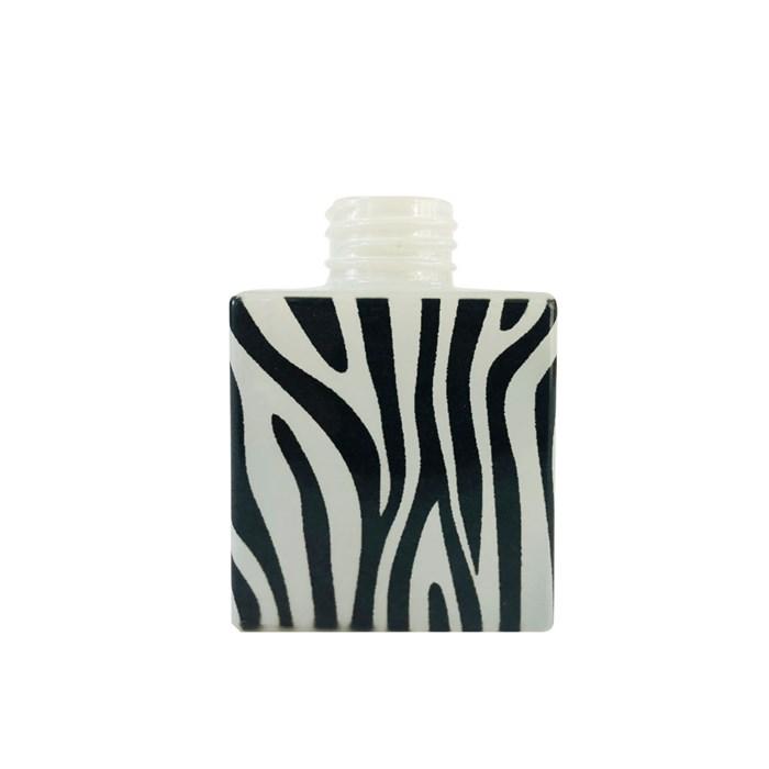 Vidro Cubo 100mL - Aromatizador Tampa Prata - Zebra